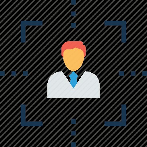 customer target, intention, marketing, target audience, user target icon