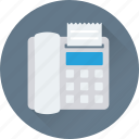 billing machine, billing printer, fax machine, invoice machine, receipt machine icon