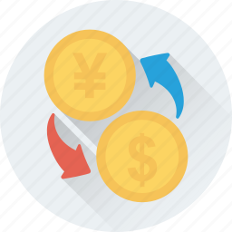 currency, dollar, finance, reserve, yen icon