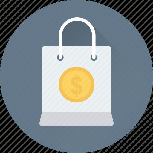 bag, dollar, shopper bag, shopping, shopping bag icon
