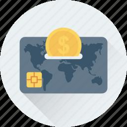 banking, credit card, debit card, dollar, finance icon