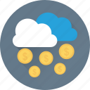 money, coins, business, cloud, earning