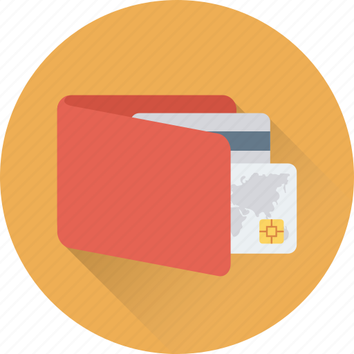 billfold wallet, card holder, card wallet, purse, wallet icon