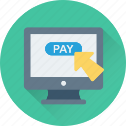 banking, online shopping, pay online, payment, shopping icon