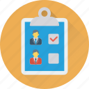 checklist, clipboard, employee, list, shortlist icon