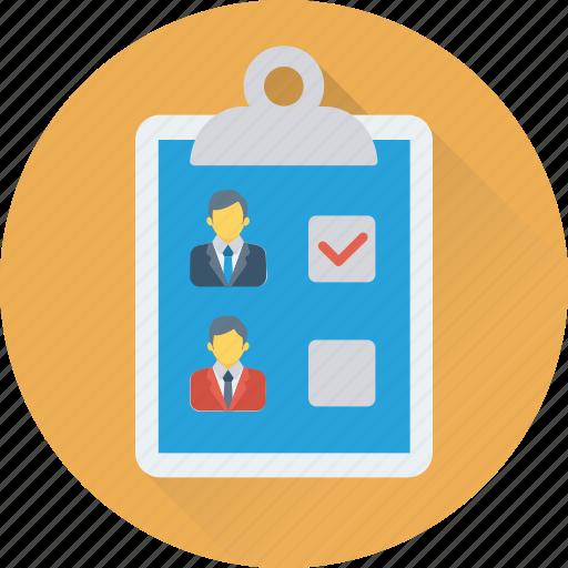 checklist clipboard employee list shortlist icon