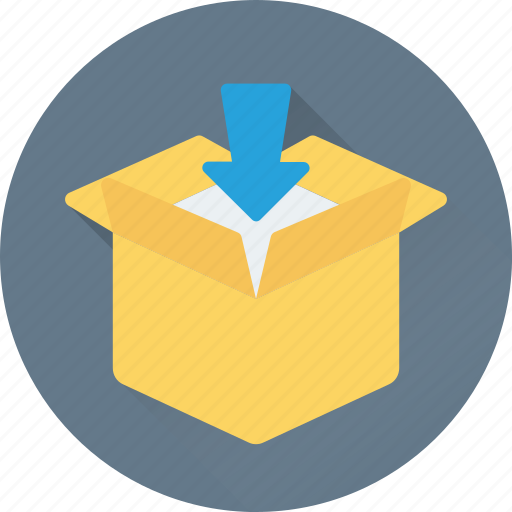add to box, box, delivery box, package, shipment icon