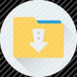 data folder, down arrow, download, download data, folder icon