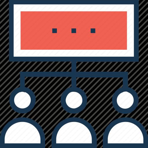 hierarchy, management, organization, people hierarchy, user hierarchy icon