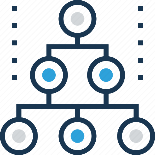 hierarchy, networking, organization, sharing, sitemap icon