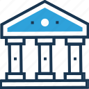 bank, bank building, building, courthouse, real estate icon