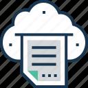 cloud paper, cloud print, cloud printing, facsimile, online printing icon