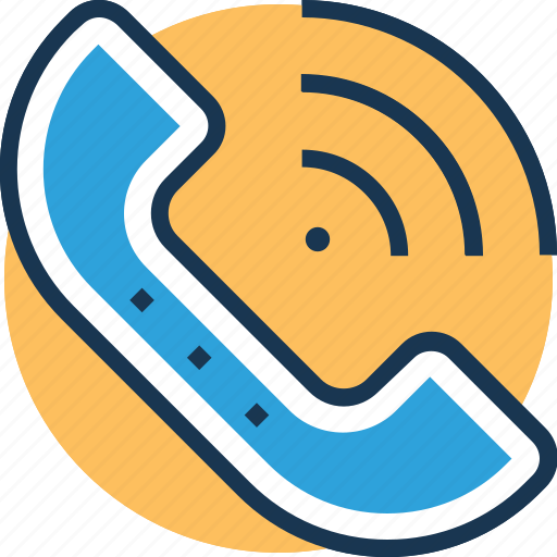 calling, customer service, help center, helpline, phone receiver icon