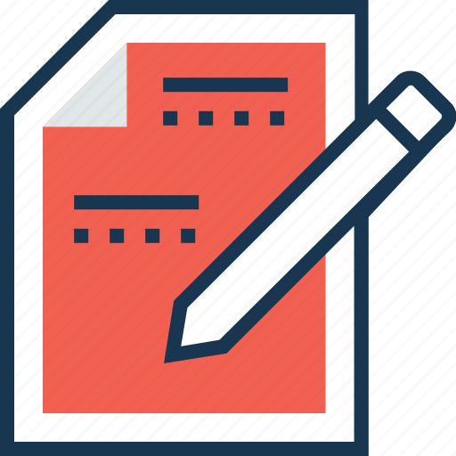 document, note, office document, sheet, sign contract icon
