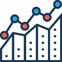 analytical positioning, analytics, graph, growth chart, statistics icon