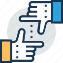 hand gesture, long range planning, planning, thumb up, work planning icon
