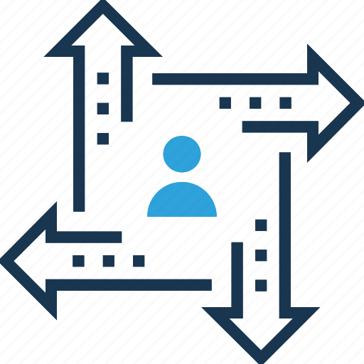 career chances, career opportunity, option arrows, options, personal development icon