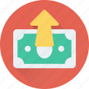 banknote, money, money growth, paper money, paper note icon