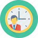 appointment, businessman, deadline, schedule, time icon