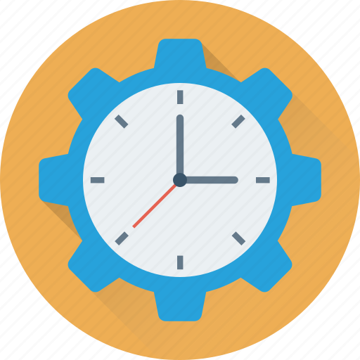cog, deadline, schedule, time, time management icon