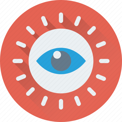 monitoring, observation, survey, view, vision icon