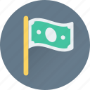 banking, dollar, emblem, ensign, flag icon