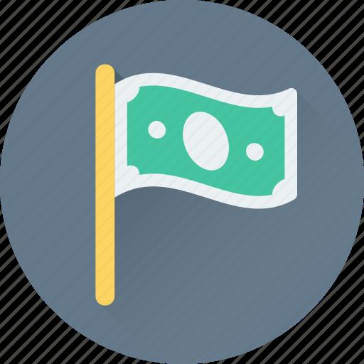 Banking, dollar, emblem, ensign, flag icon - Download on Iconfinder
