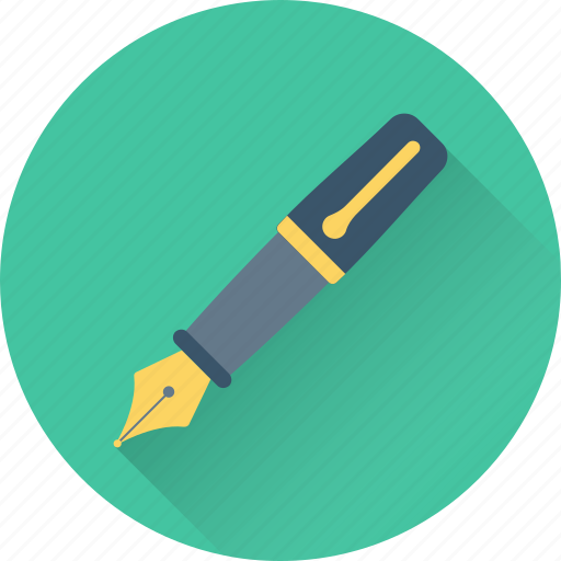 fountain pen, ink pen, pen, pen tool, writing icon
