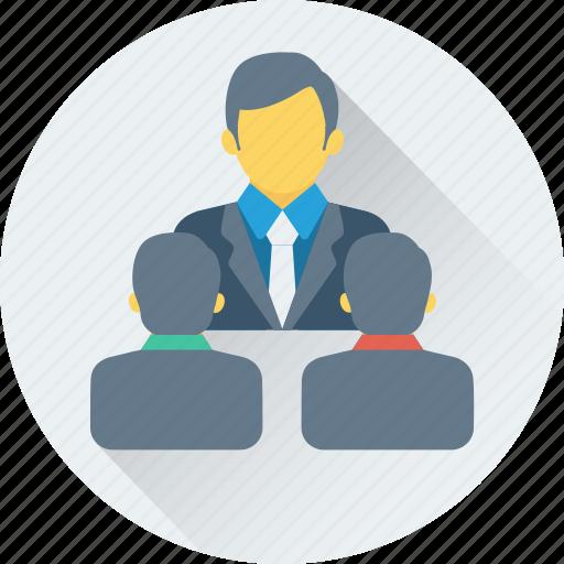 collaboration, communication, conference, seminar, training icon