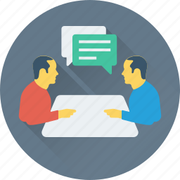 conference, conversation, meeting, table talk, talk icon