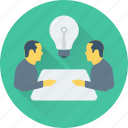 conference, conversation, idea, meeting, table talk, talk icon