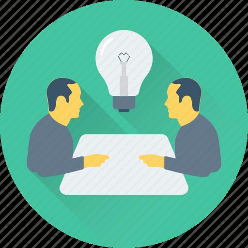 conference, conversation, idea, meeting, table talk, talk icon