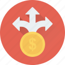 arrows, business, business opportunity, dollar, opportunity icon