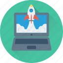 missile, rocket, spacecraft, spaceship, web startup icon