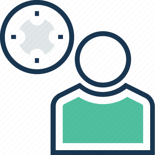 creativity, personal solution, productivity, target, user productivity icon