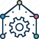 cog, implement, operation, practice, service icon