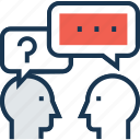 chat, chat bubble, faq, query, questionnaire icon