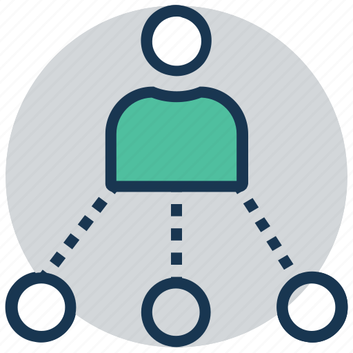 hierarchy, leader, network, sitemap, team management icon