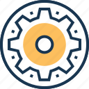 cogs, customize, gear, preferences, settings icon