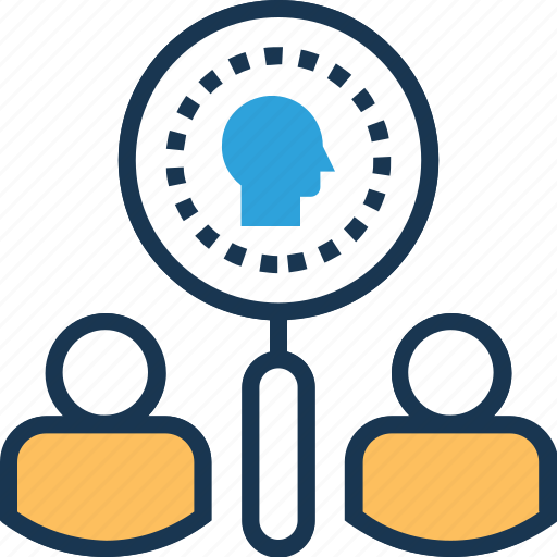 find employee, find user, magnifier, magnifying, recruitment icon