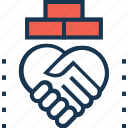 business partner, businessmen, deal, shake hand, team relationship icon