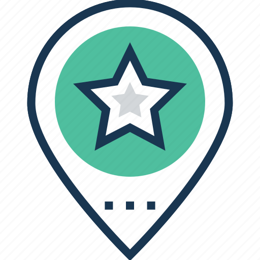 active position, favorite location, favorite place, location, location pointed icon
