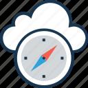 compass, gps, navigation, navigational compass, orientation icon