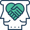 collaborate, collaboration hands, cooperate, cooperation, unite icon
