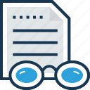 documents, file, notes, office documents, text sheet icon