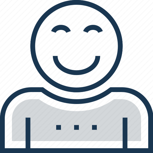 emoticon, expression, happy, positive motion, smile icon