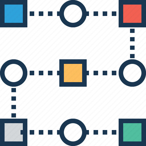 flow process, iteration, processes, sequential process, strategy icon