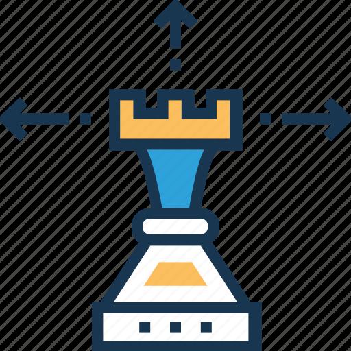 business strategy, market strategy, strategy, technology, venture icon