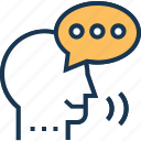 bubble, speaking, speech, speech analytics, speech bubble icon