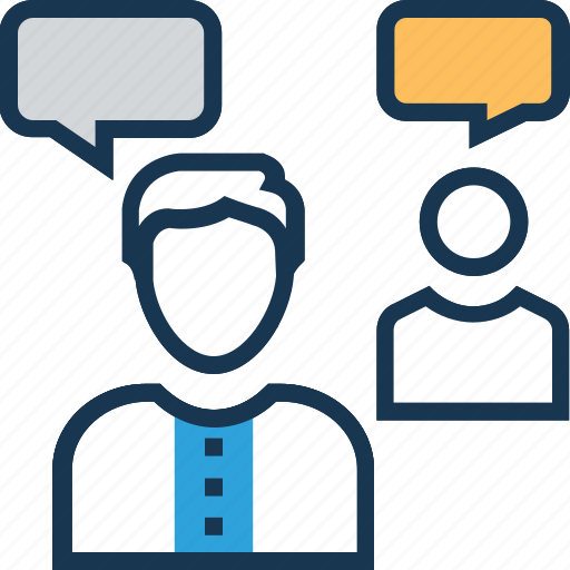 conference, discussion, interview, meeting, talk icon